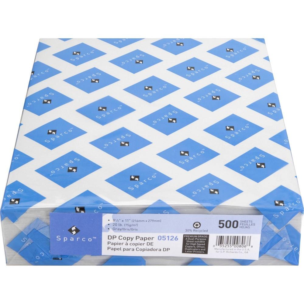 "Sparco 500ct 8.5"" x 11"" Laser Printer & Copy Paper - Gray"