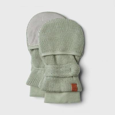 Goumi Baby Organic Cotton Knit Mittens - Light Gray 0-3M