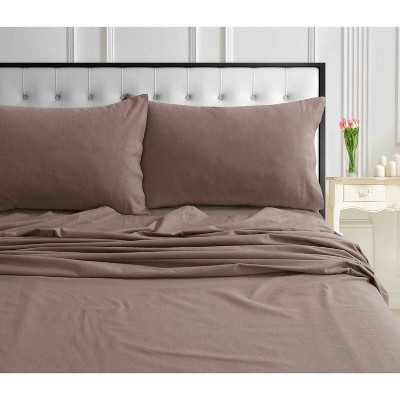 Solid Extra Deep Pocket Ultra Soft Flannel Sheet Set - Tribeca Living