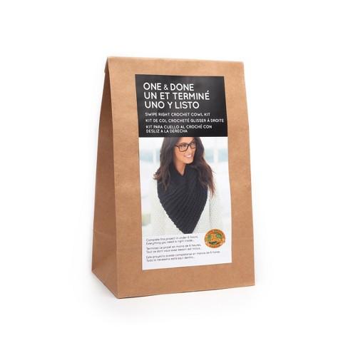 Lion Brand® Yarn Kit Crochet Cowl - Black - image 1 of 4