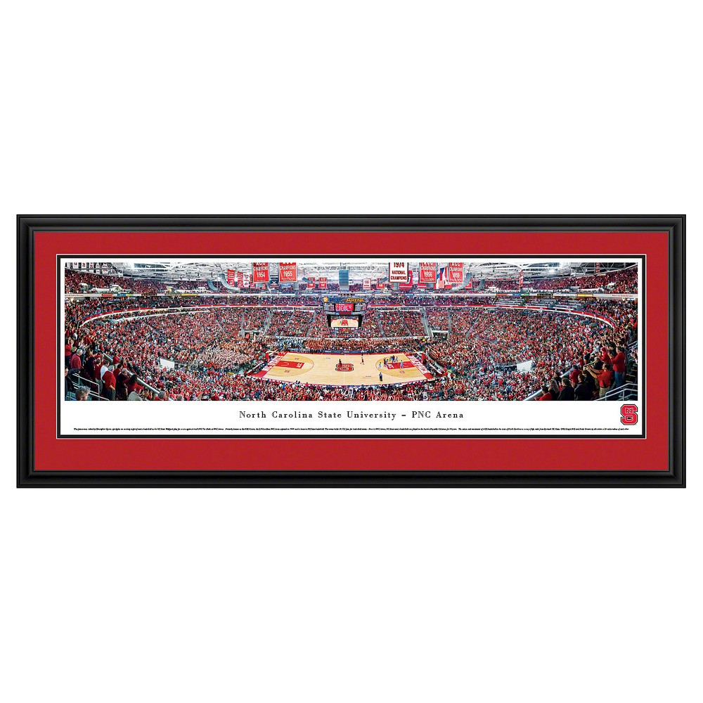 Ncaanc State Wolfpack BlakewayBasketball Arena View Framed Wall Art, Nc State Wolfpack