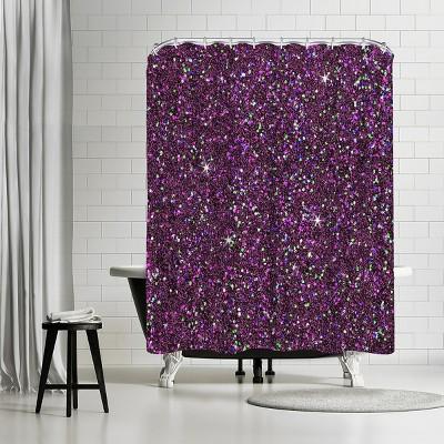 "Americanflat Purple Shiny by Wonderful Dream 71"" x 74"" Shower Curtain"