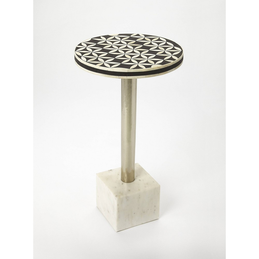 Lindy Bone Inlay Accent Table - Butler Specialty, Multi-Colored
