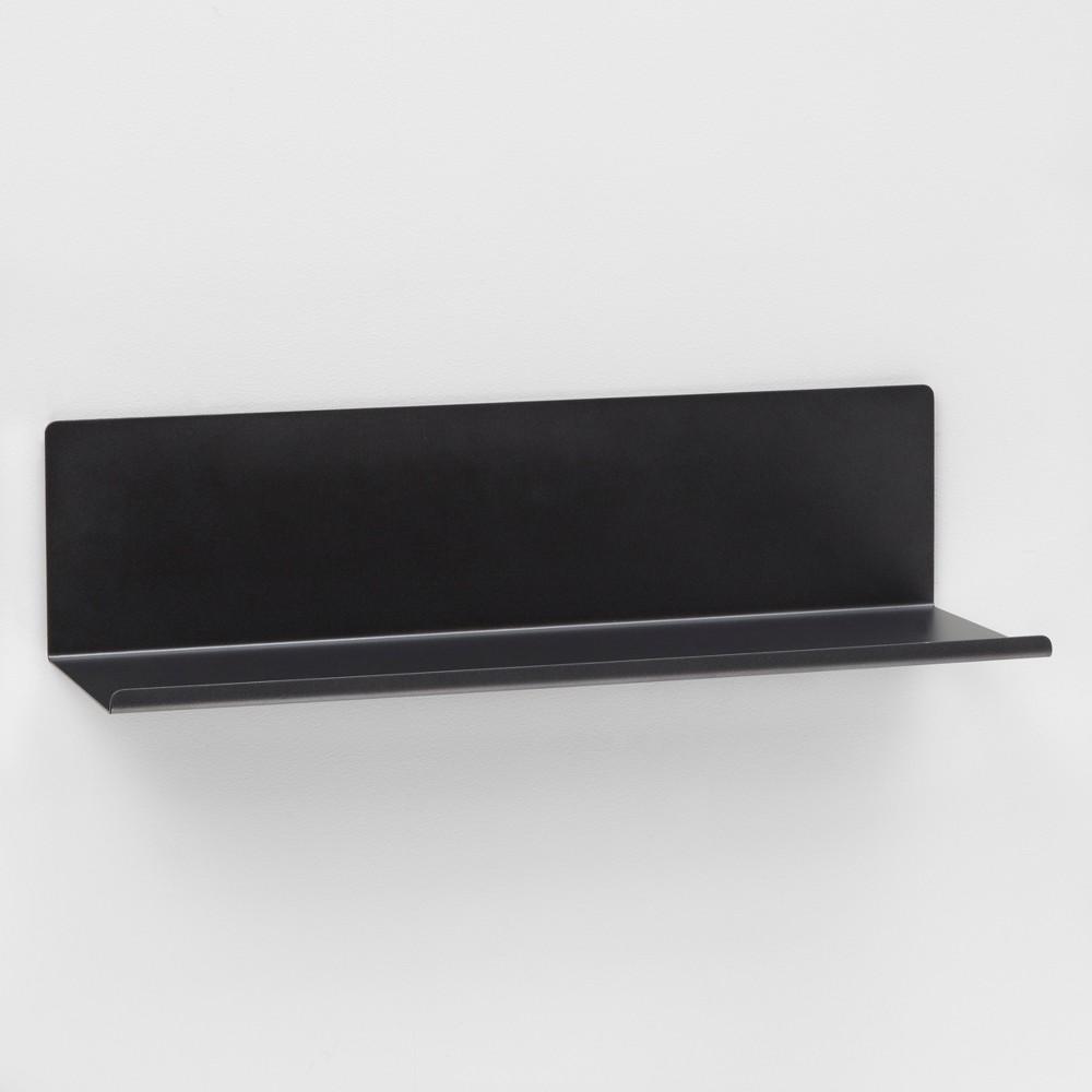 Bent Metal Shelf 24 - Dark Gray - Project 62