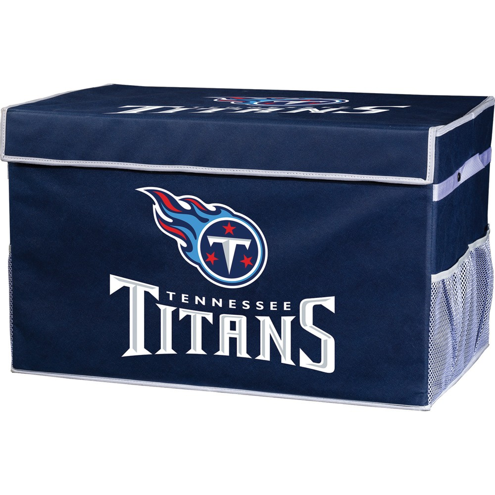 NFL Franklin Sports Tennessee Titans Collapsible Storage Footlocker Bins - Large, Multicolored