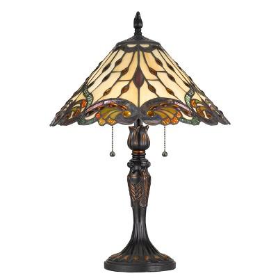 60W X 2 Tiffany Table Lamp Brown - Cal Lighting