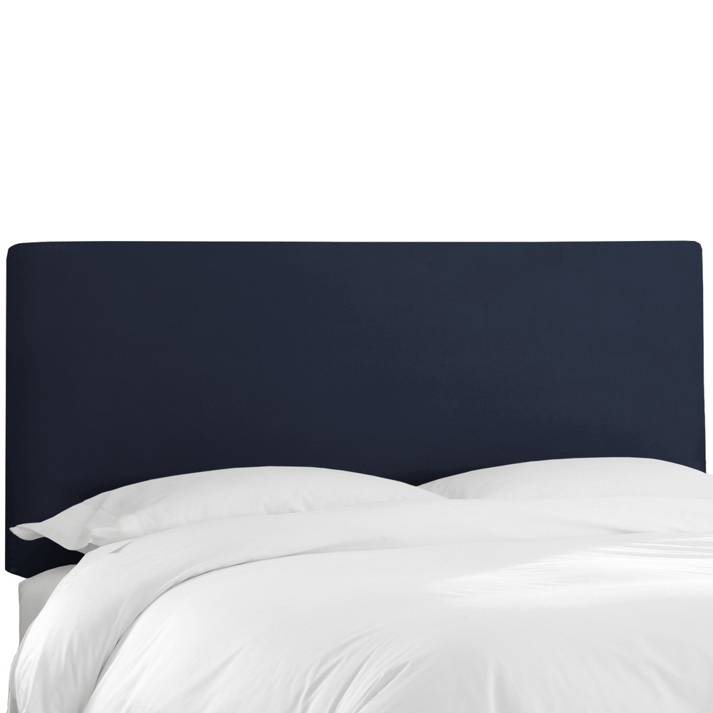 Twin Olivia Upholstered Headboard Navy Velvet - Cloth & Co.