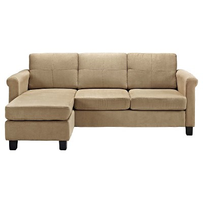 Superieur Small Spaces Configurable Sectional Sofa   Taupe   Dorel Living® : Target
