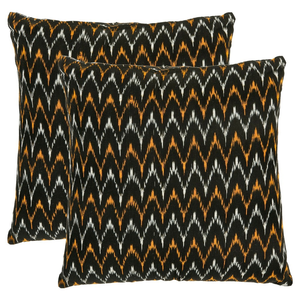 Black Set Throw Pillow 18 34 X18 34 Safavieh