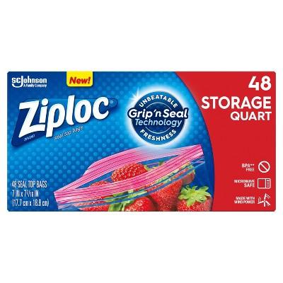 Ziploc Quart Storage Bags - 48ct