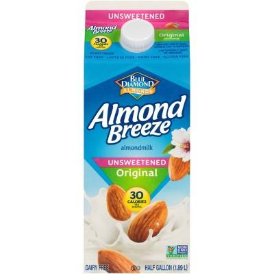 Blue Diamond Almond Breeze Almond Milk - 0.5gal
