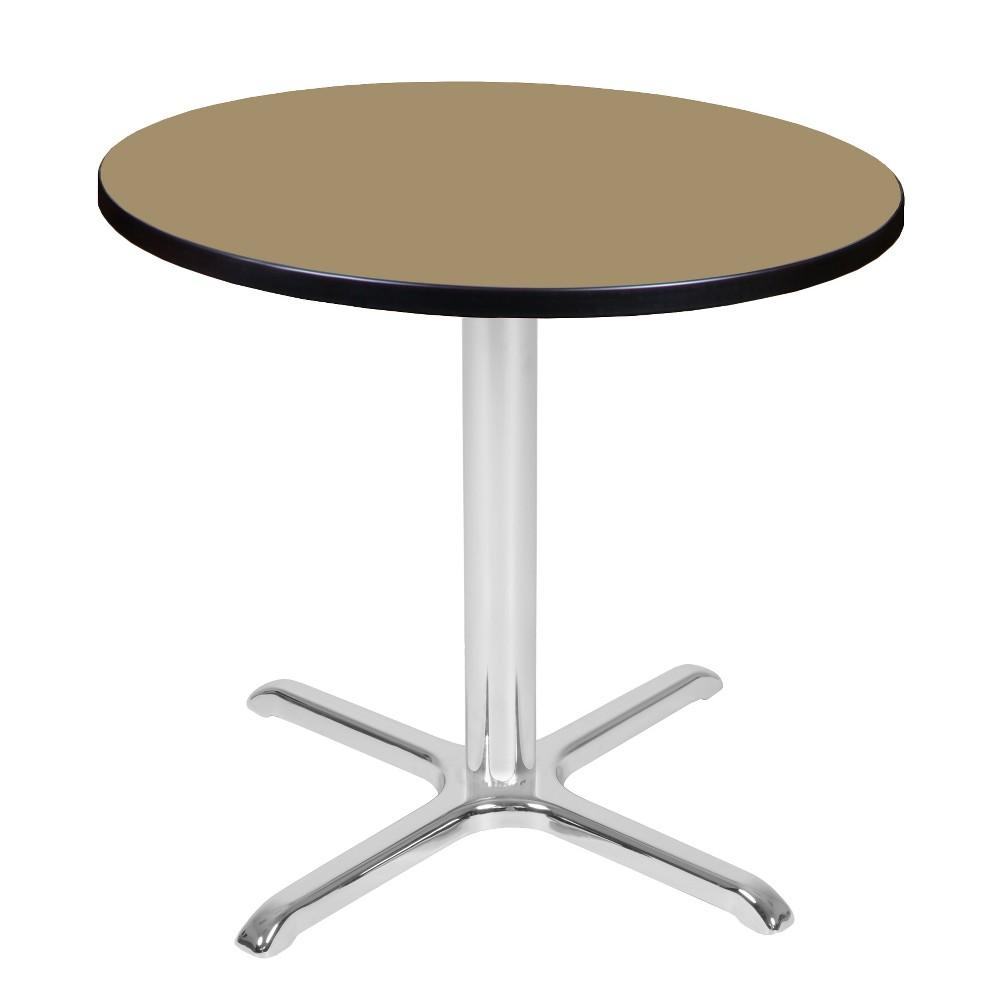 30 Via Round X - Base Table Gold/Chrome (Gold/Grey) - Regency