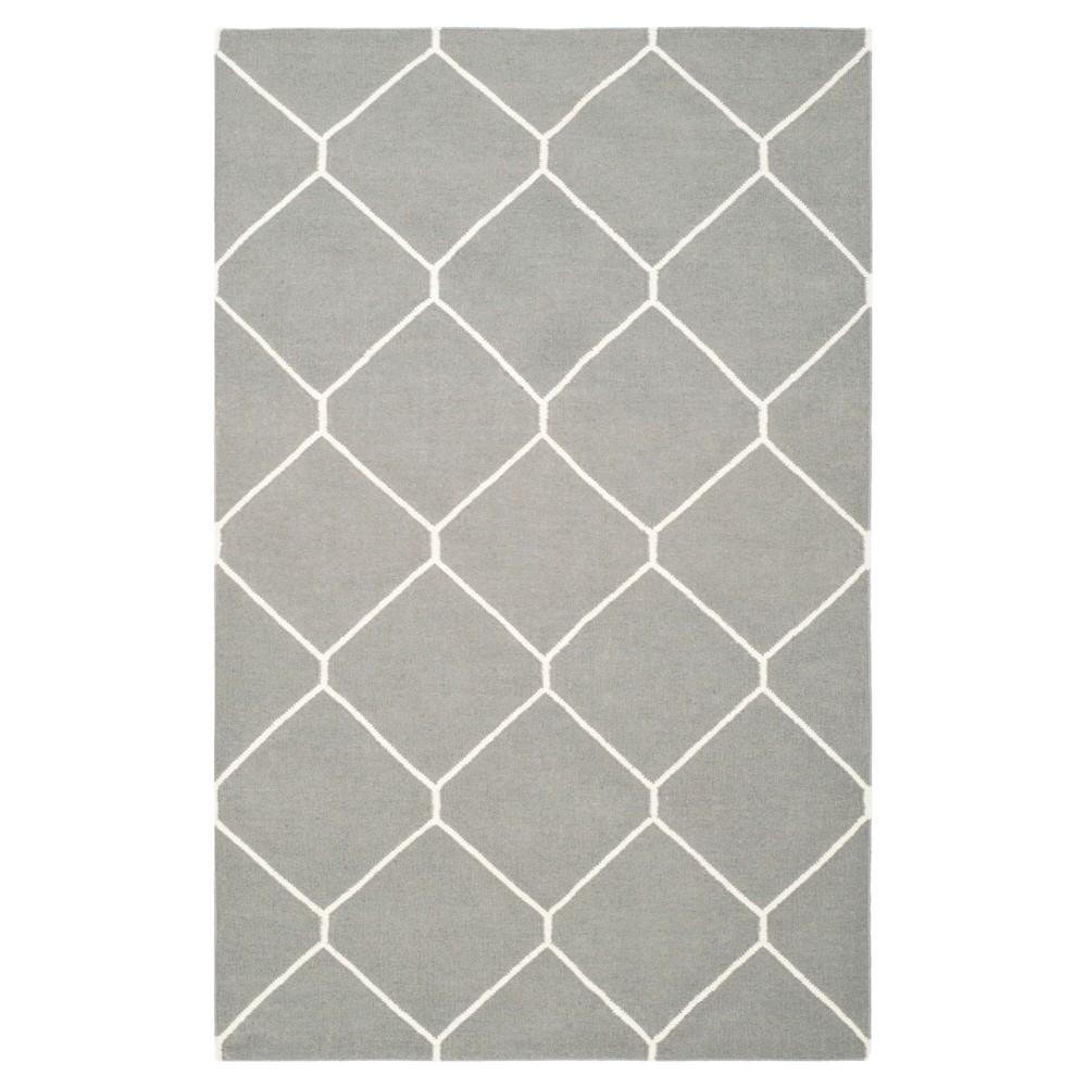 Coupons Dhurries Rug - Gray Ivory - (9x12) - Safavieh