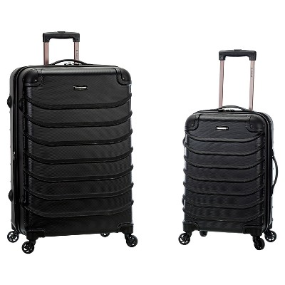 Rockland Special 2pc Expandable ABS Spinner Set - Black