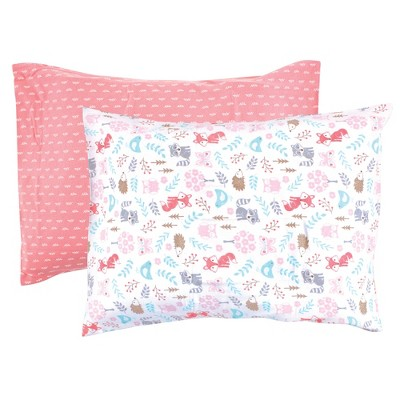 Hudson Baby Infant Girl Cotton Toddler Pillow Case, Woodland Fox, One Size