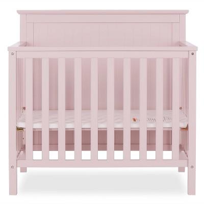 Dream On Me Jasmin 4-in-1 Convertible Mini Crib - Pink