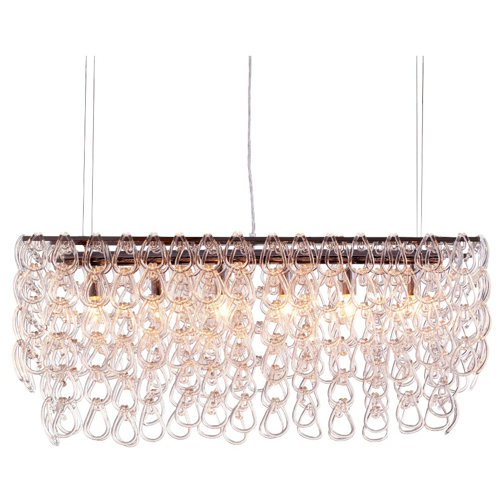 Elegant Cascading Glass Ceiling Lamp - ZM Home, Clear