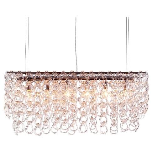Elegant Cascading Glass Ceiling Lamp - ZM Home - image 1 of 4