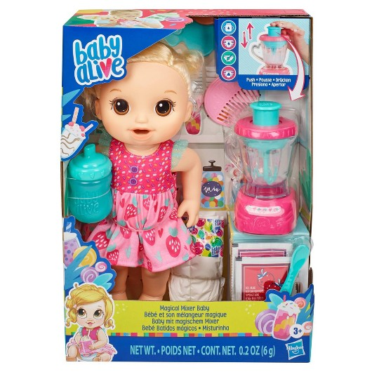 Baby Alive Magical Mixer Baby Doll - Strawberry Shake image number null