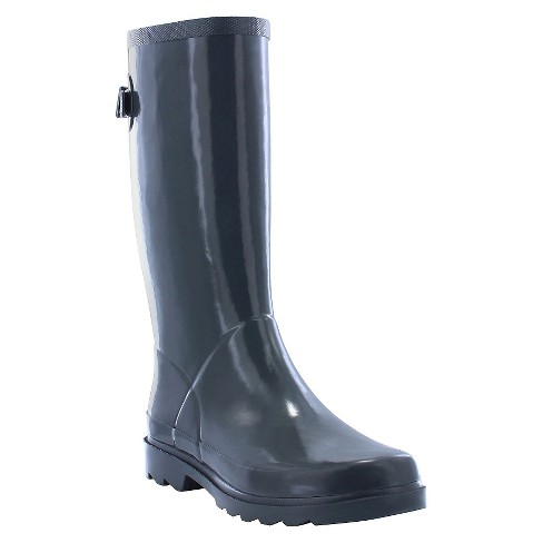 Women's Back Gusset Rain Boots - Gray 7 - image 1 of 4