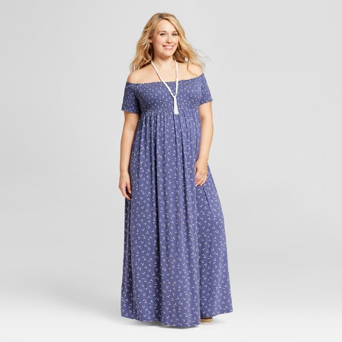 3ea9c3d49d28 Maternity Plus Size Smocked Maxi Dress - Isabel Maternity by Ingrid &  Isabel™ Midnight Sky Print