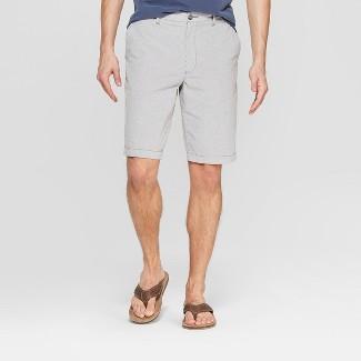 "Men's 10.5"" Striped Chino Shorts - Goodfellow & Co™ Gray 30"