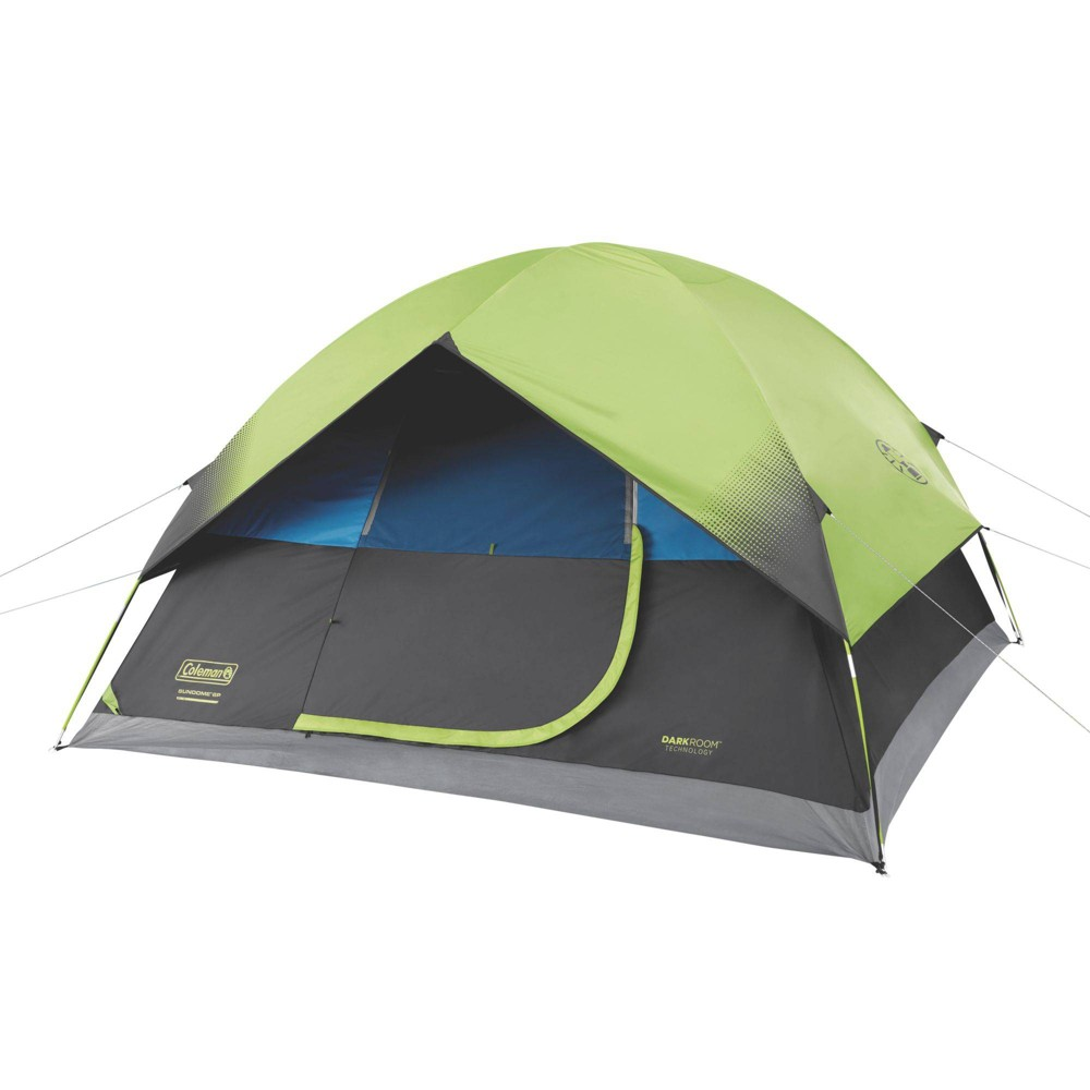 Image of Coleman 6-Person Dark Room Sundome Tent - Green, Gray
