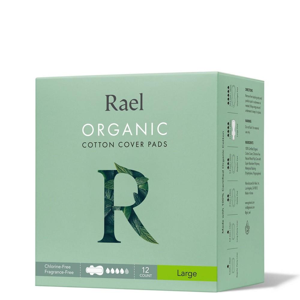 Rael Organic Cotton Large Menstrual Pads Unscented 12ct