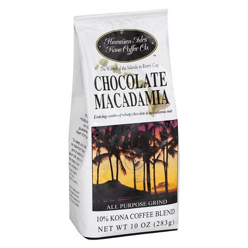 Hawaiian Isles Chocolate Macadamia Medium Roast Ground Coffee - 10oz - image 1 of 1