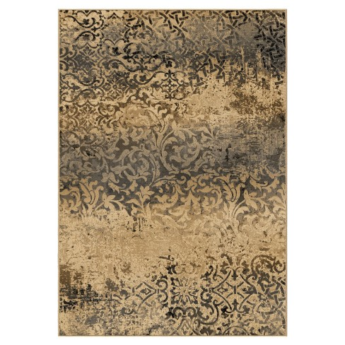 Parched Scroll Beige Rug - Orian - image 1 of 4