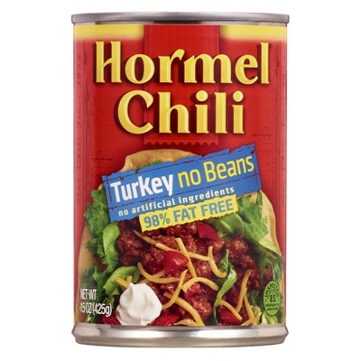 Hormel 99% Fat Free Turkey No Beans Chili 15oz