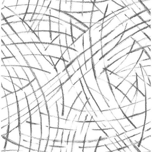 NuWallpaper Imprint Peel and Stick Wallpaper Black - image 1 of 4