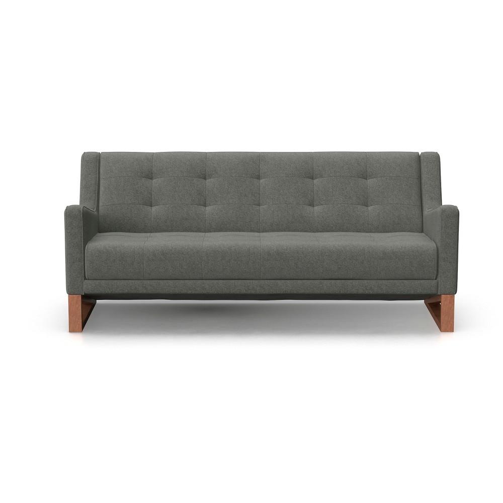 Mandy Mid Century Modern Tufted Sofa Charcoal (Grey) - AF Lifestlye