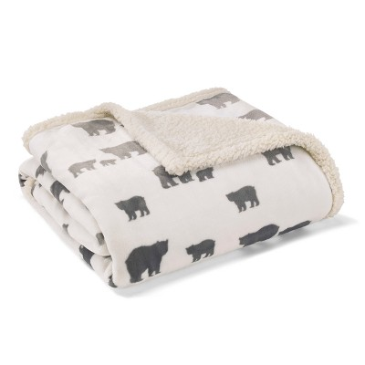 Throw Blankets Eddie Bauer 50X60  Inches Buff Beige Ash