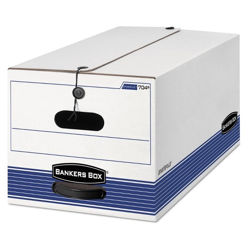 Bankers Box STOR/FILE Storage Box Button Tie Legal White/Blue 12/Carton 00705 - image 1 of 1