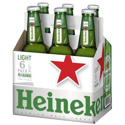 Heineken Light Premium Malt Lager Beer 6pk 12 Fl Oz Bottles Target