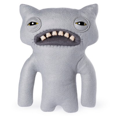 "Fuggler Funny Ugly Monster 9"" WideEyed Weirdo Plush Creature with Teeth - Grey"
