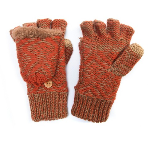 Women's Flip Mittens - Pumpkin - image 1 of 1