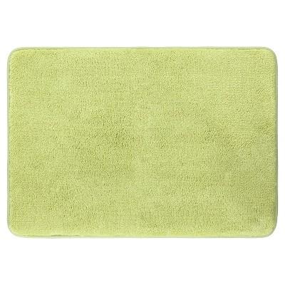 Velveteen Memory Foam Bath Mat - Green - 17 x24  - Mohawk Home