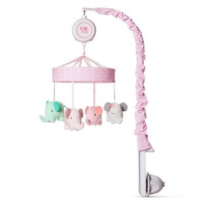 aaf90db3c049d Crib Mobile Elephant Parade - Cloud Island™ Pink