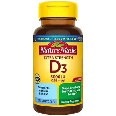 Vitamins & Supplements: Nature Made Vitamin D3 Softgels Extra Strength