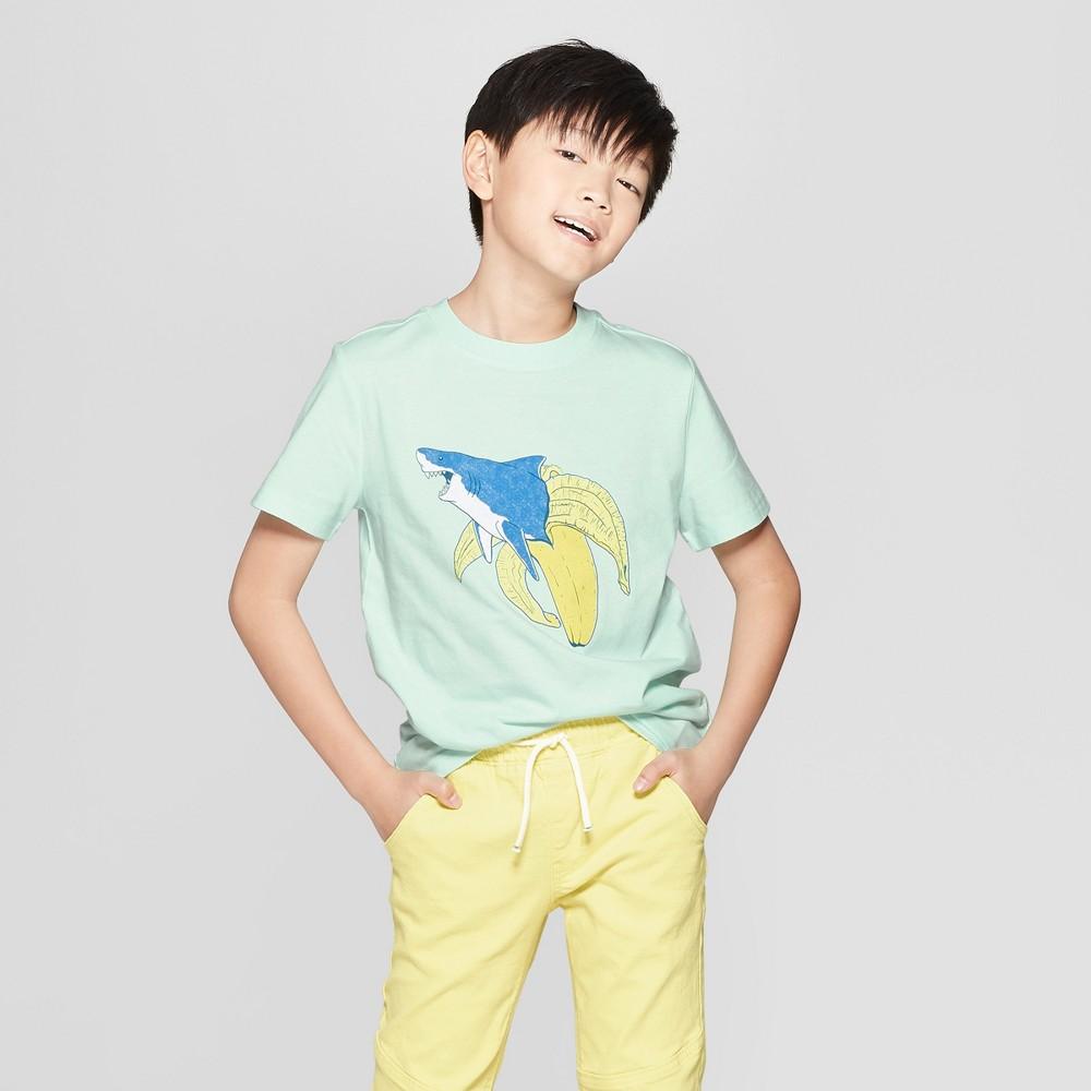 Boys' Shark Banana Short Sleeve Graphic T-Shirt - Cat & Jack Green XL