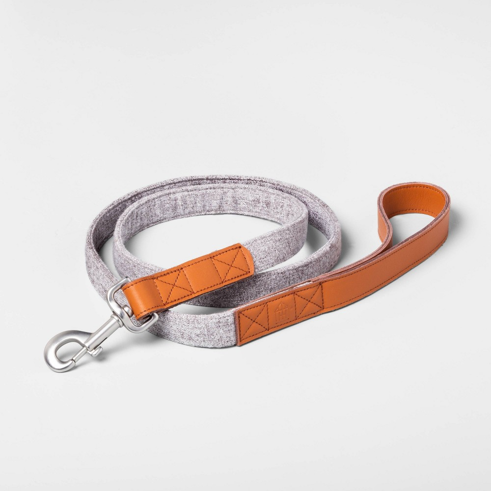 Image of 5ft Pet Leash Gray - Hearth & Hand with Magnolia