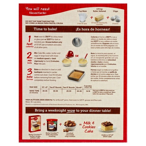 Betty Crocker SuperMoist Cake Mix Butter Recipe Yellow