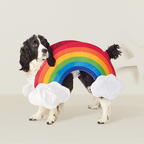 Rainbow Dog Costume - Rainbow/White - Hyde and Eek! Boutique™ - image 1 of 2