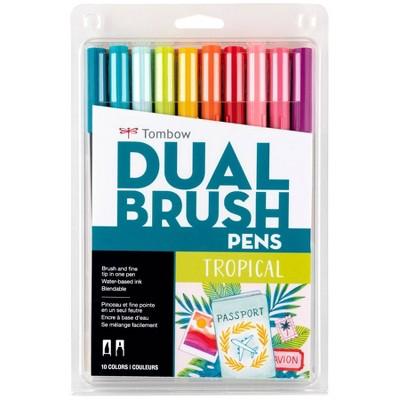 Tombow 10ct Dual Brush Pen Art Markers - Tropical