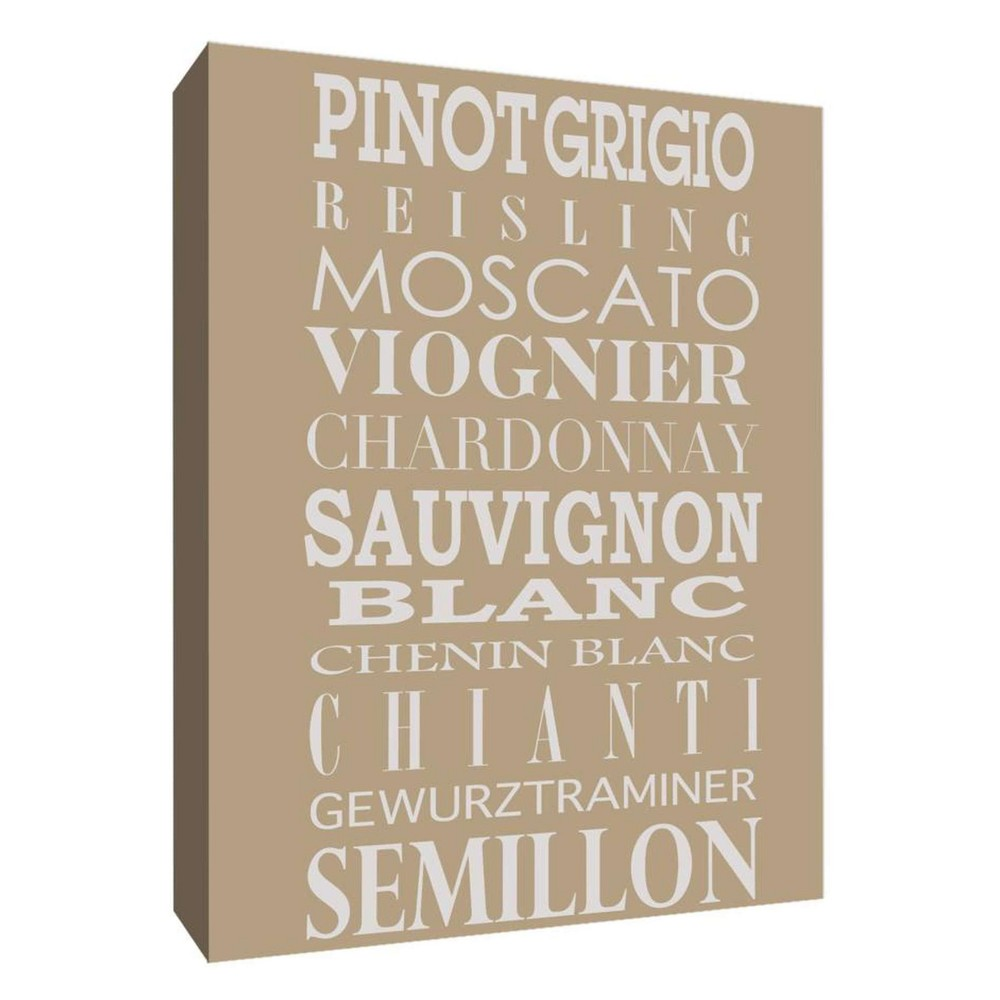 Wine Menu II Decorative Canvas Wall Art 11