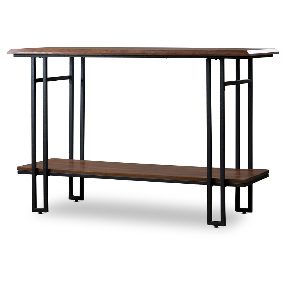 Newcastle Wood and Metal Console Table - Baxton Studio