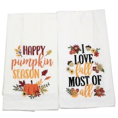 "Fall 27.0"" Pumpkin Season  Love Fall Towel Flour Sack Towels  -  Kitchen Towel"