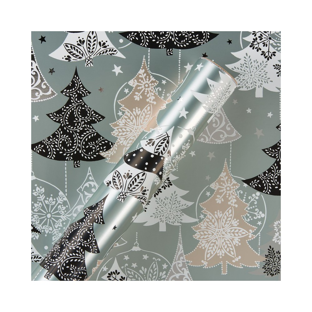Papyrus Metalized Trees Wrapping Paper, Multi-Colored